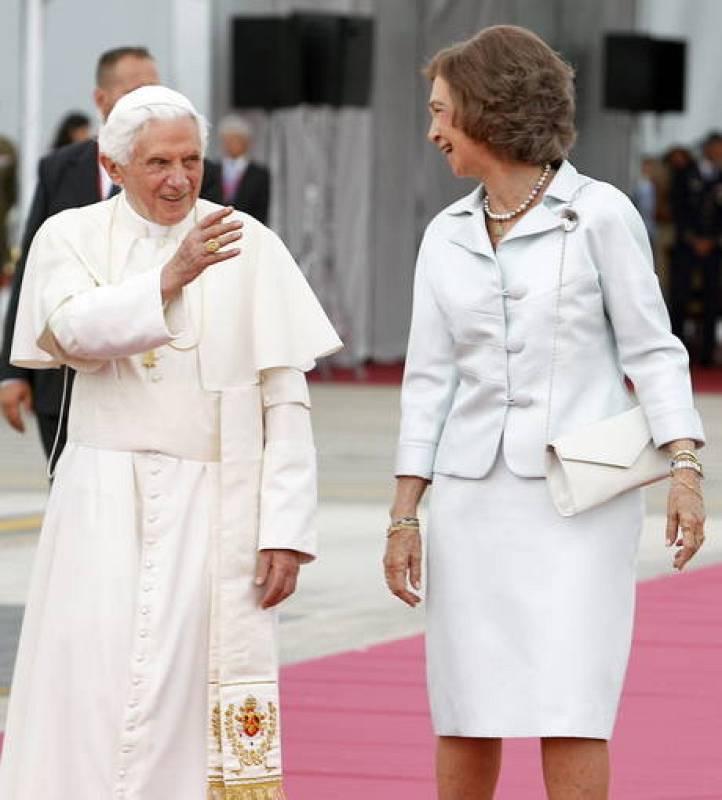 Despedida del papa en Barajas