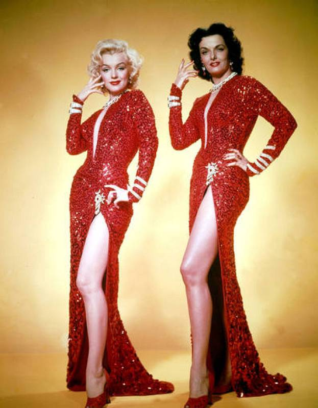 Marilyn Monroe y Jane Russell en 'Los caballeros las prefieren rubias'