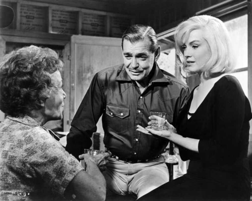Marilyn Monroe, Thelma Ritter y Clark Gable en 'Vidas rebeldes', 1961.