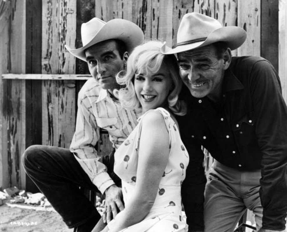 Marilyn Monroe, Montgomery Clift y Clark Gable en 'Vidas rebeldes', 1961.