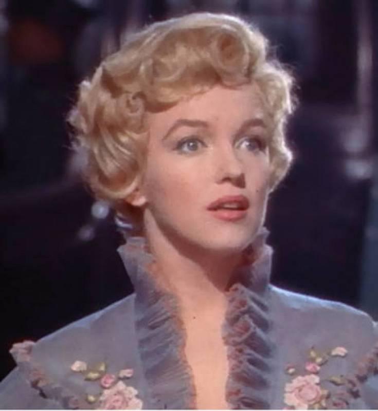 Fotograma de Marilyn Monroe en el trailer de la película 'El príncipe y la corista', 1957.