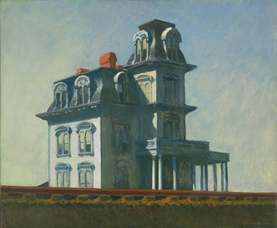 'Casa junto a la vía del tren' (1925). Edward Hopper.