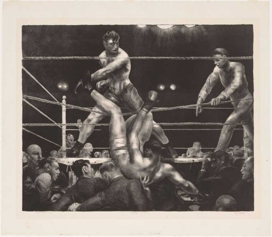 'Dempsey y Firpo' (1923-24). George Bellows.