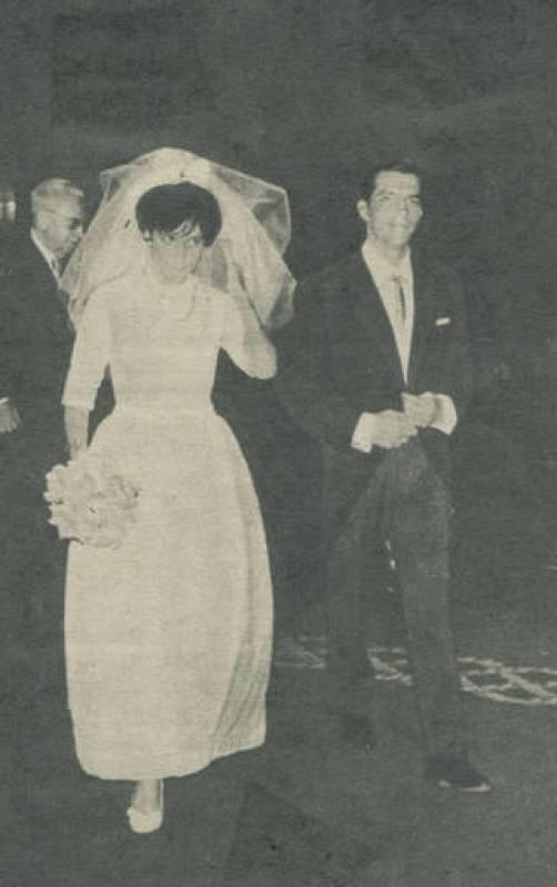 Imagen de la boda de Adolfo Suárez con Amparo Illana