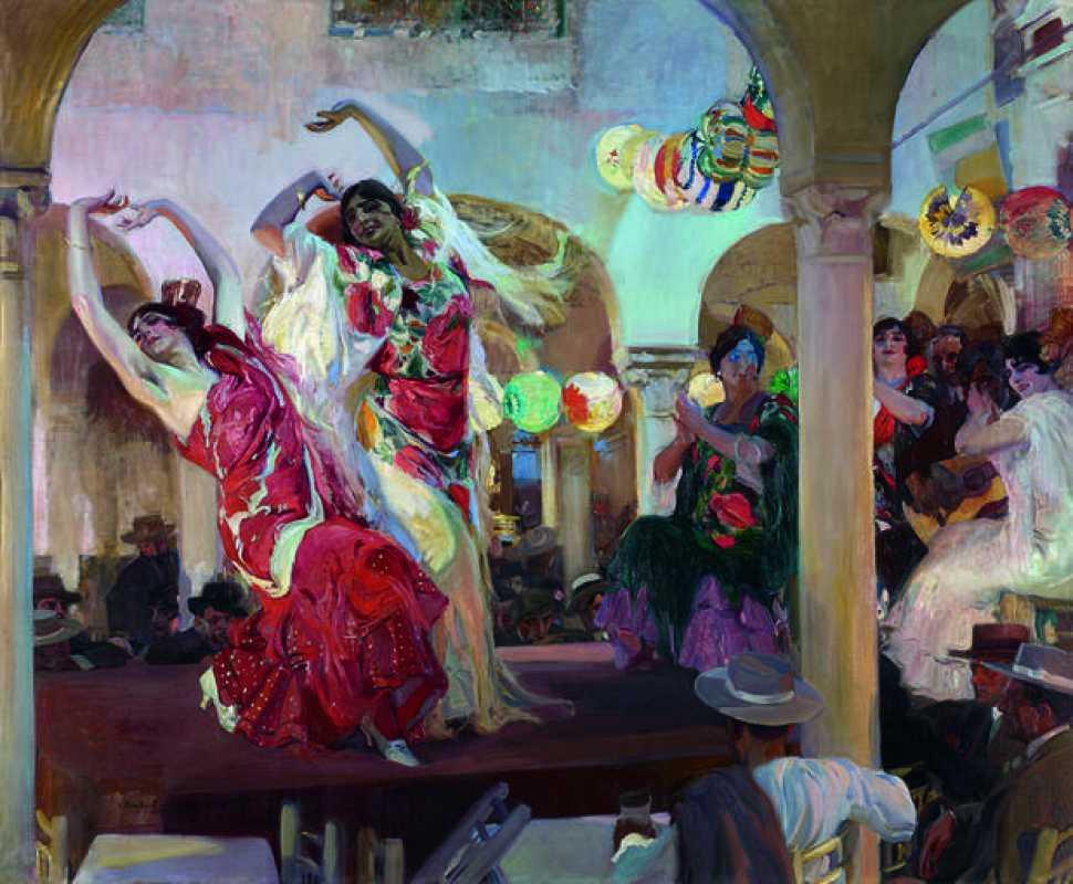 """Sorolla, """"Baile en el Café Novedades de Sevilla"""" (1914)"""