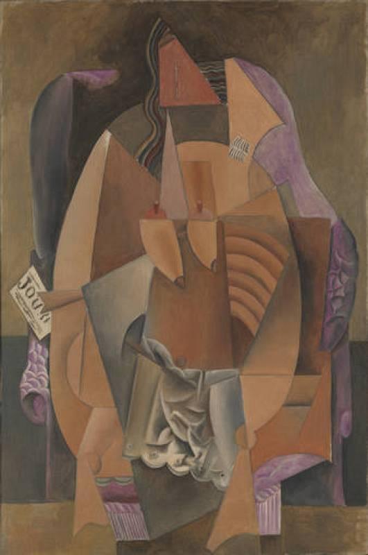 """Pablo Picasso, """"Mujer en camisa en un sillón"""" (1914)"""
