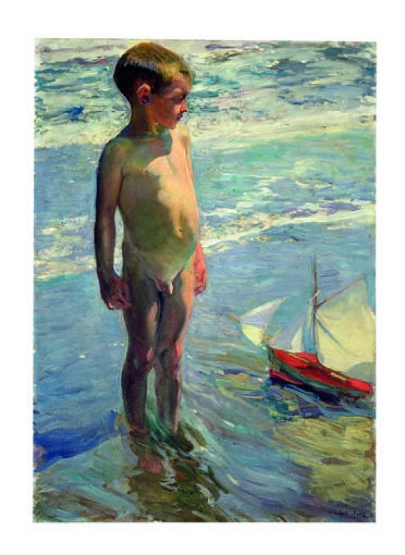 """Sorolla, """"El niño de la barquita"""" (1904)"""