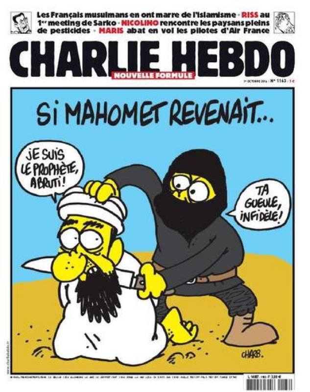 Portada de octubre de 2014 del semanario satírico Charlie Hebdo