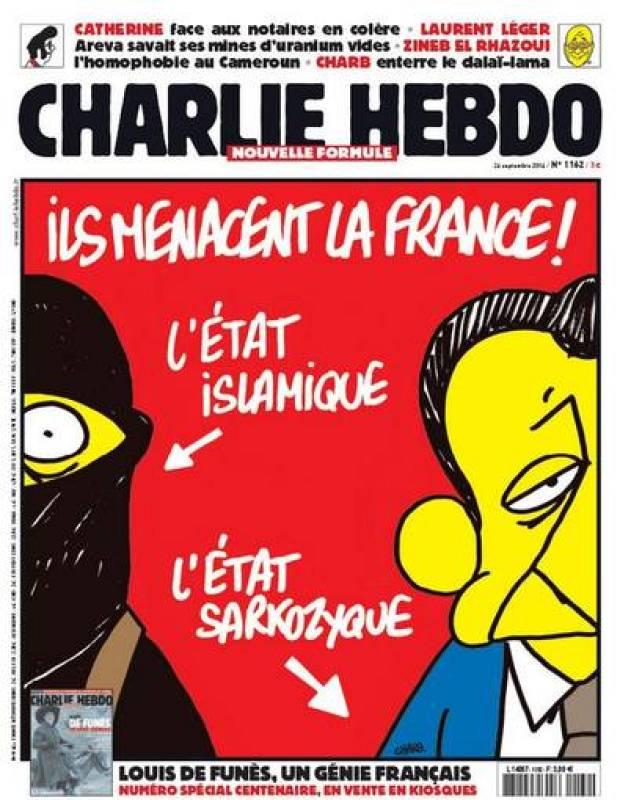 Una de las portadas de Charlie Hebdo de septiembre