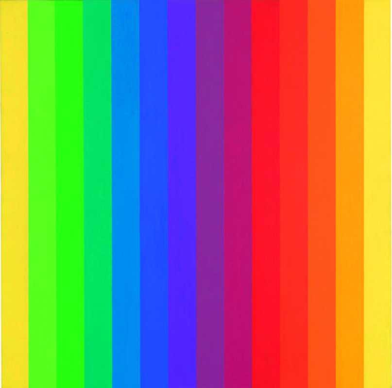 "Ellsworth Kelly, ""Spectrum I"", (1953)"