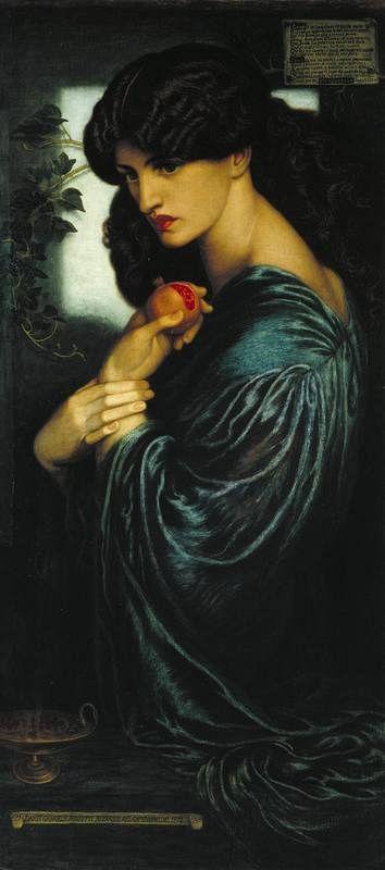 Imagen de la obra 'Prosperine' ( 1874) de Dante Gabriel Rossetti