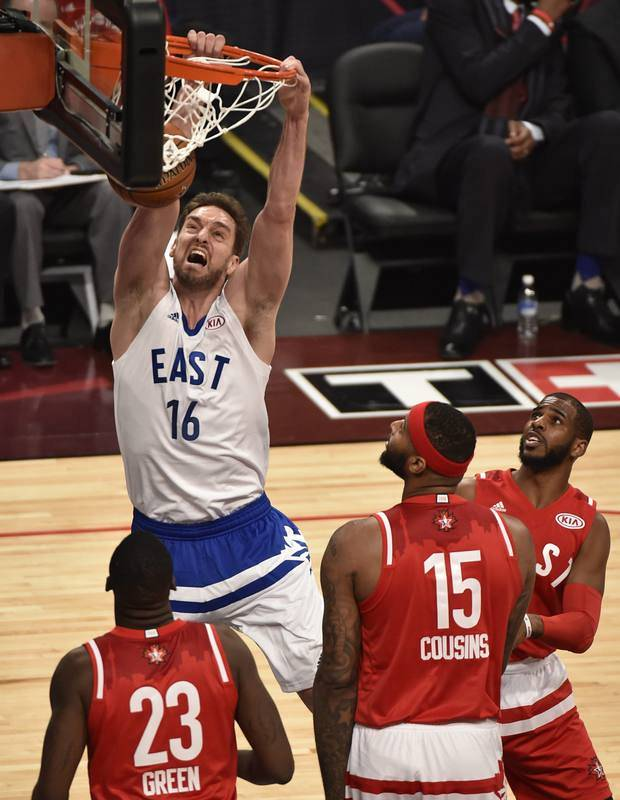 Pau Gasol anota 9 puntos en el All-Star