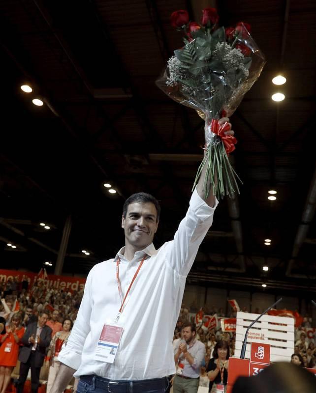 Pedro Sánchez durante el acto de clausura del Congreso Federal del PSOE