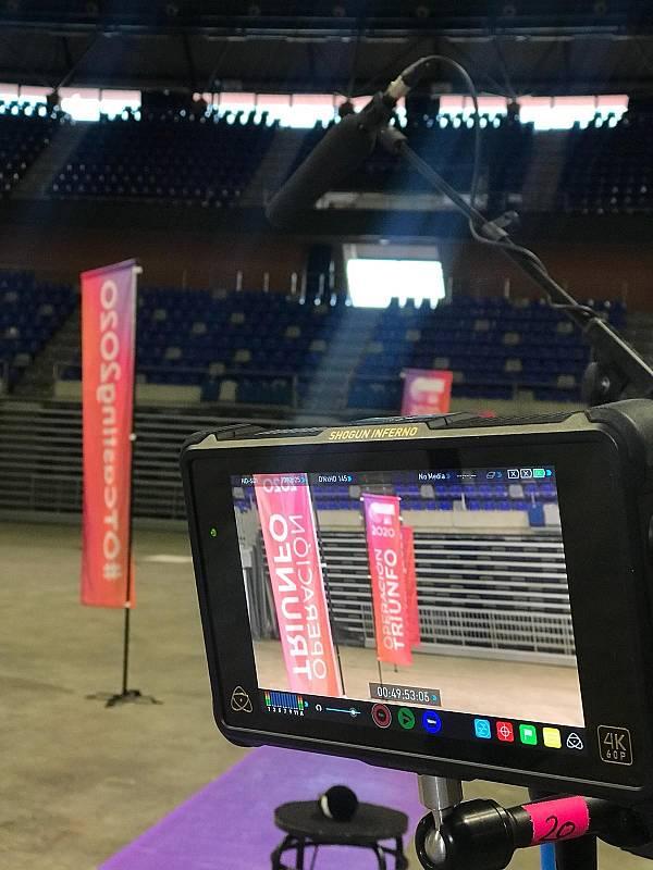 Perspectiva desde la cámara en la Fase 1 del casting OT 2020 en Málaga