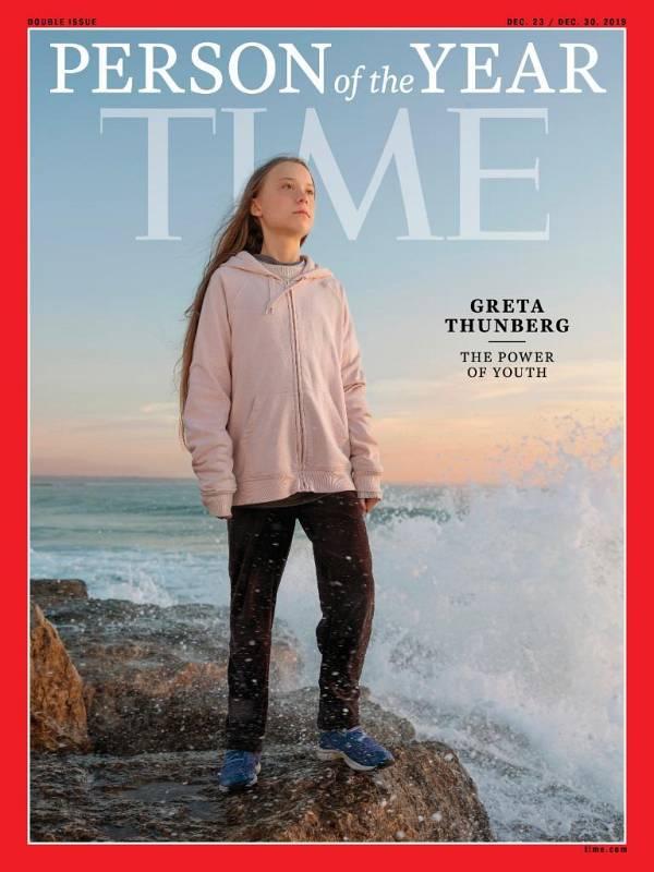 Greta Thunberg, personaje del año de 2019 para 'Time'