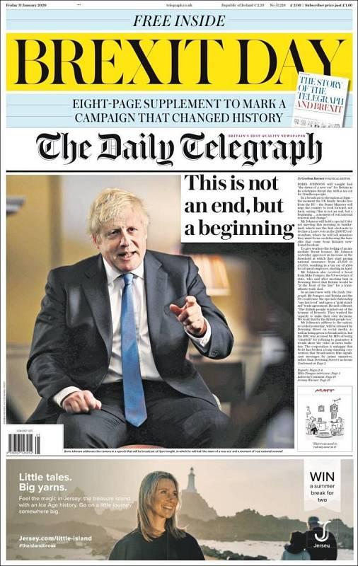 Portada de 'The Daily Telegraph'