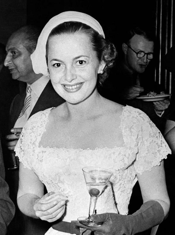 Fotografía de Olivia de Havilland tomada en la década de los 50.