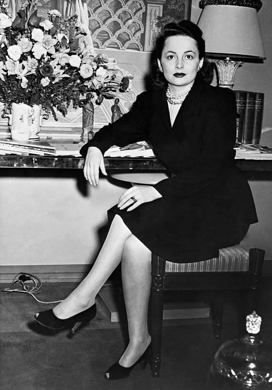 Imagen de Olivia de Havilland fechada en la década de los 50.