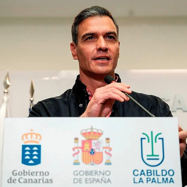 Sánchez anuncia la agilización de ayuda a La Palma