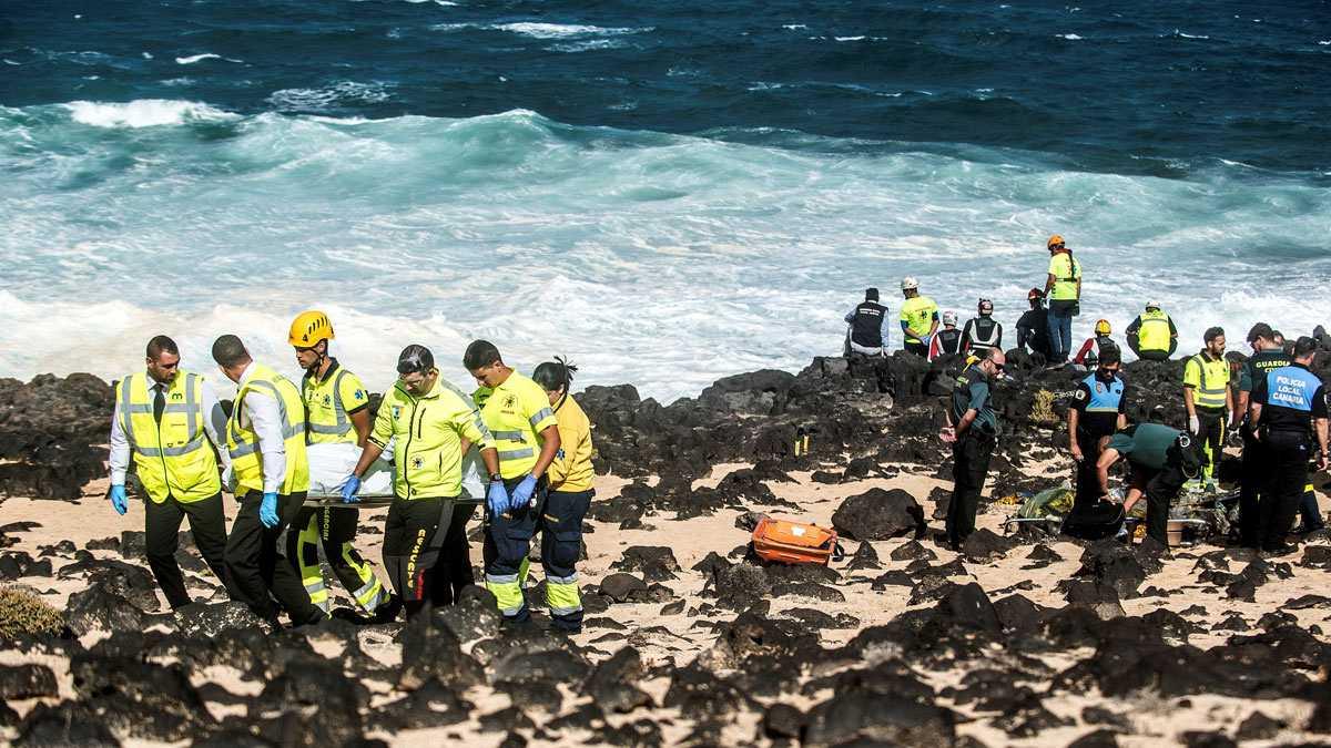 9 migrantes muertos en el naufragio de una patera en Lanzarote