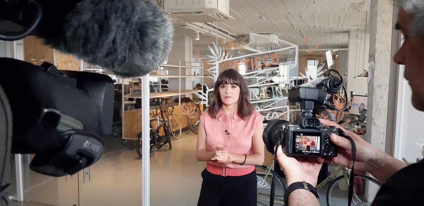 Alicia Gómez, directora y presentadora de 'Yo soy Erasmus'