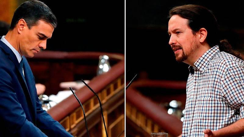 Sánchez e Iglesias, cara a cara en el debate de investidura