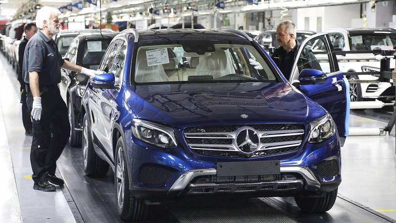 Cadena de montaje de automóviles en Alemania