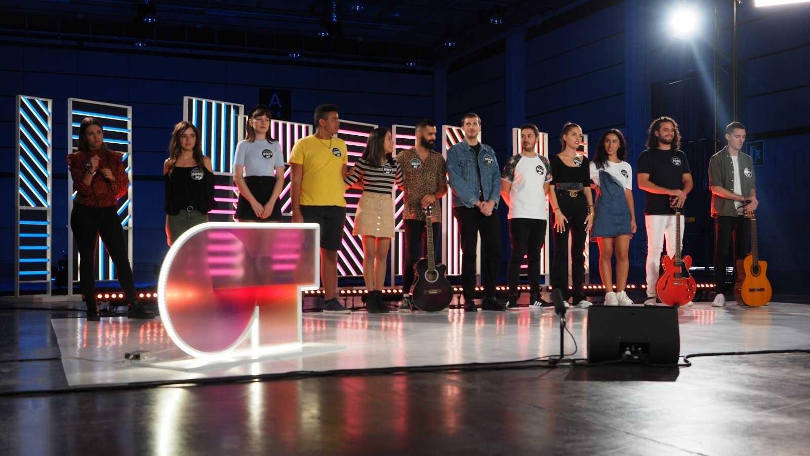Un grupo en el casting de Valencia