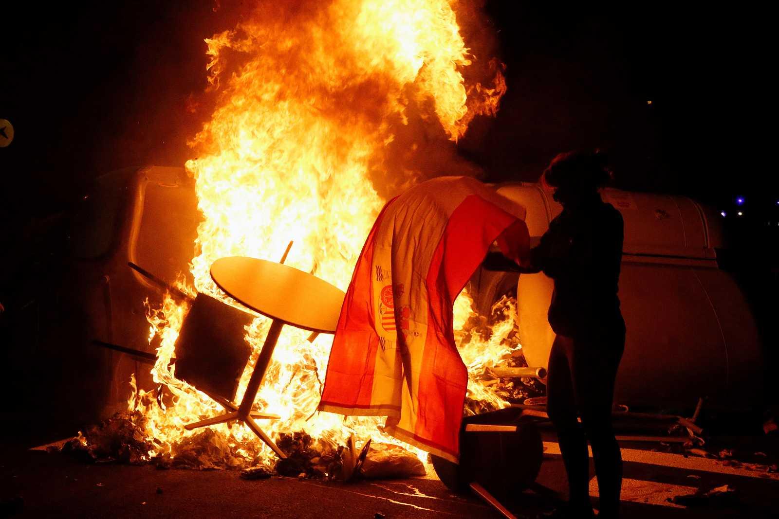 """Disturbios tras la concentración """"Olimpiada Republicana"""" en Barcelona"""