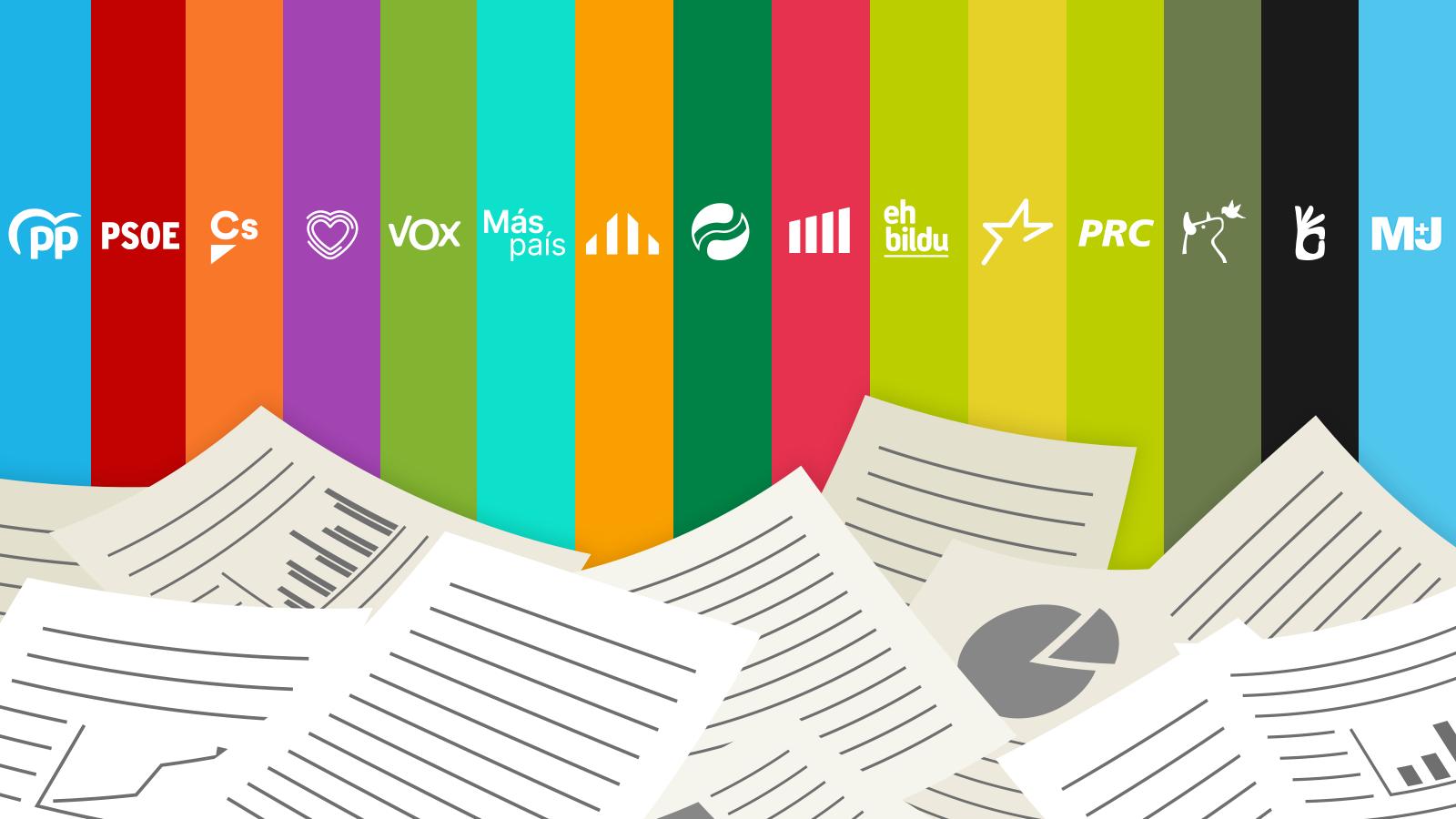 Comparador de programas interactivo: elige temas y partidos y mira qué proponen