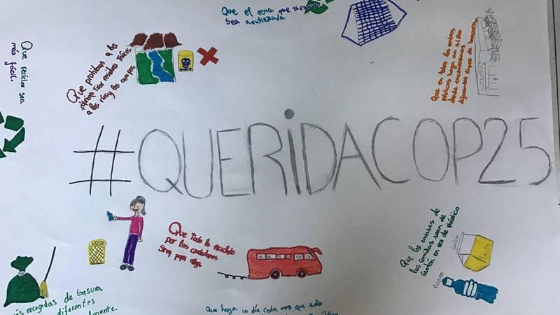 Recorte de una de las cartas enviadas por los niños que han participado en la iniciativa.