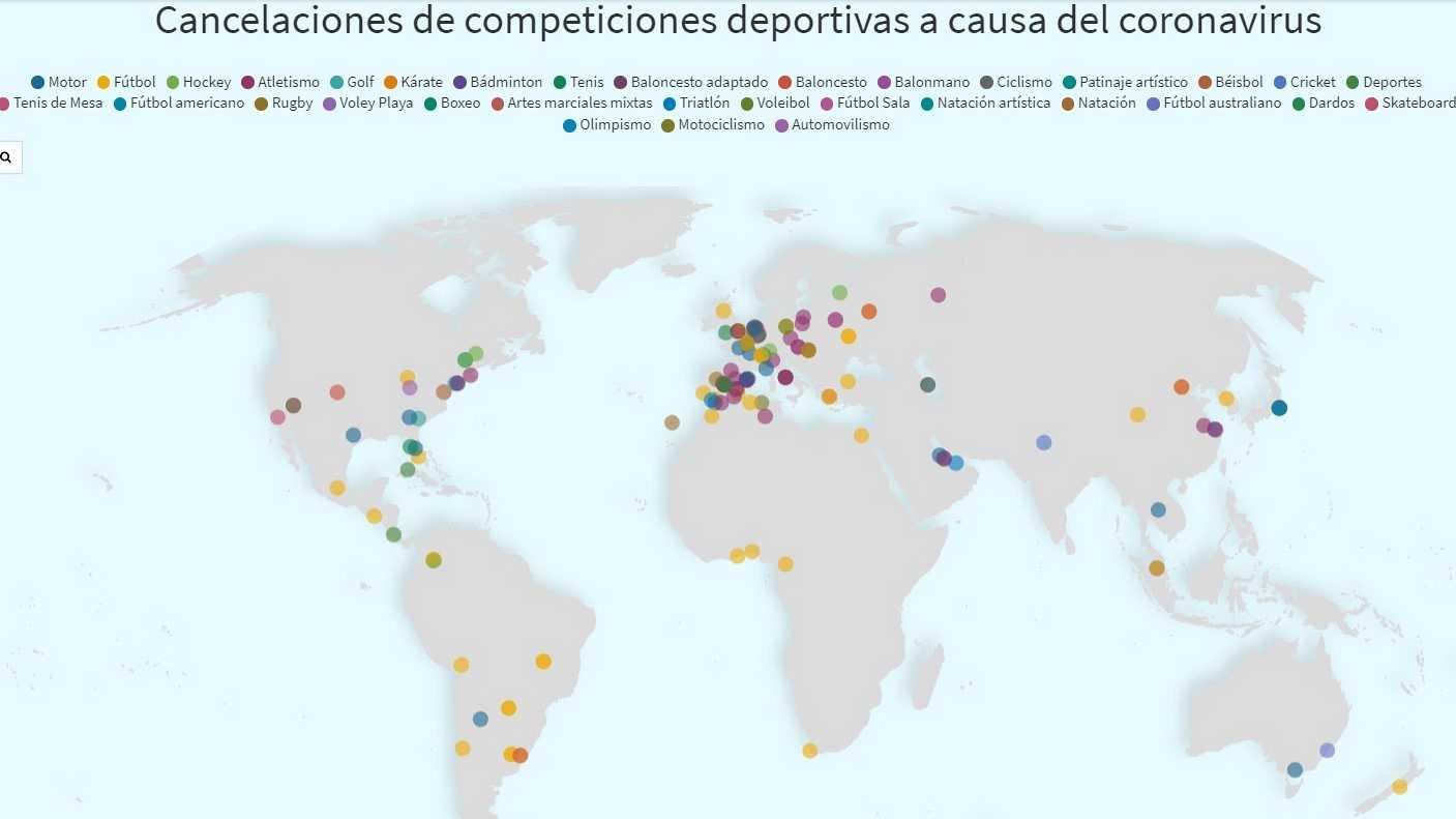 El mapa del coronavirus en el deporte: más de 150 suspensiones o cancelaciones