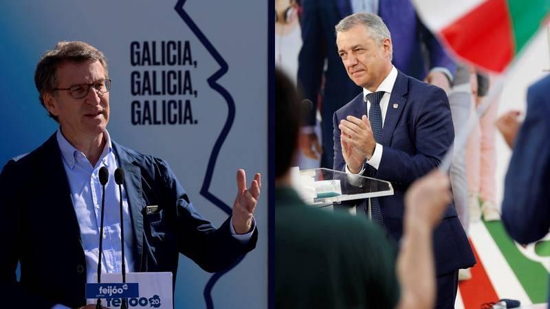 Feijóo y Urkullu, los favoritos a la reelección como presidentes autonómicos en Galicia y País Vasco