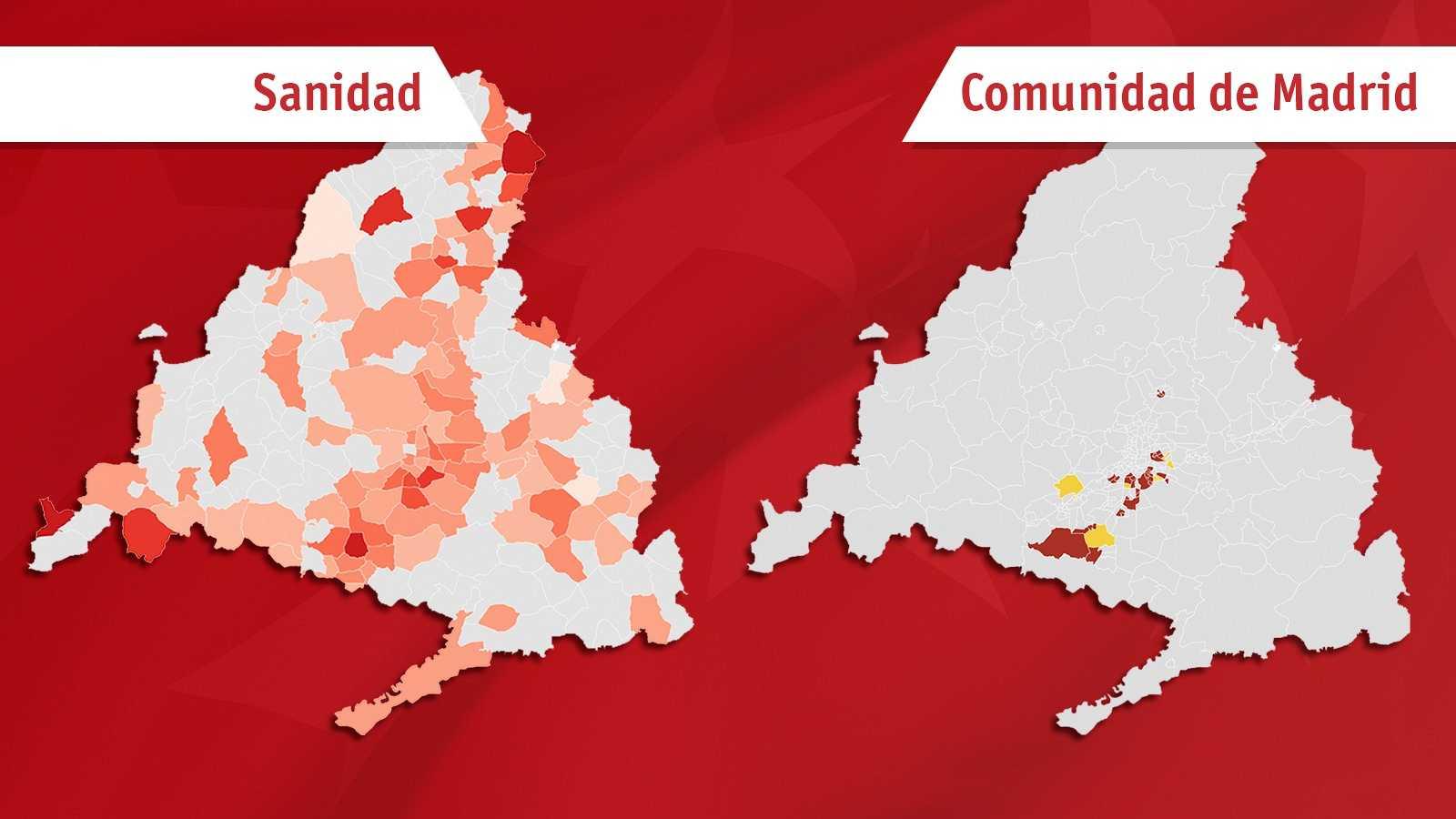 Dos mapas, dos planes: estan son las (diferentes) propuestas de Sanidad y Madrid para luchar contra la COVID-19