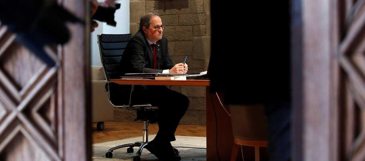 """Torra llama a la """"ruptura democrática"""" y llevará su inhabilitación a Europa: """"No acepto una sentencia injusta"""""""