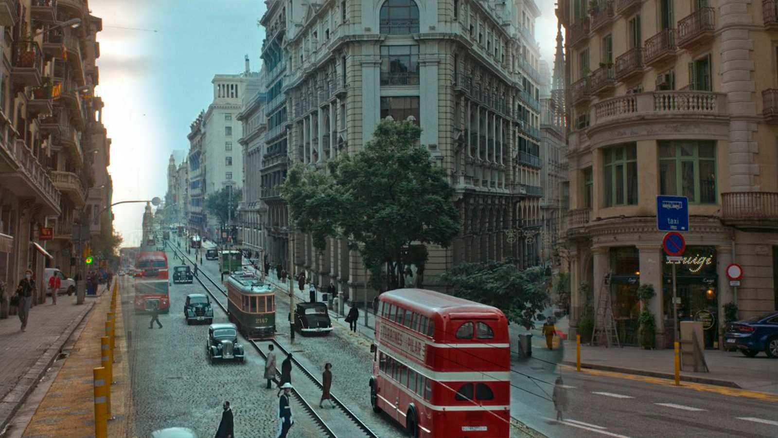 La Via Laietana es una de las localizaciones del anuncio del Gordo de este año.