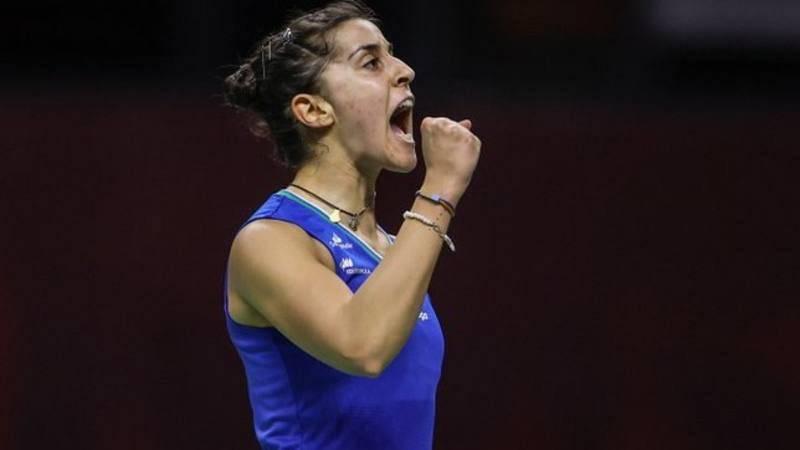 Imagen de la jugadora española de bádminton Carolina Marín.