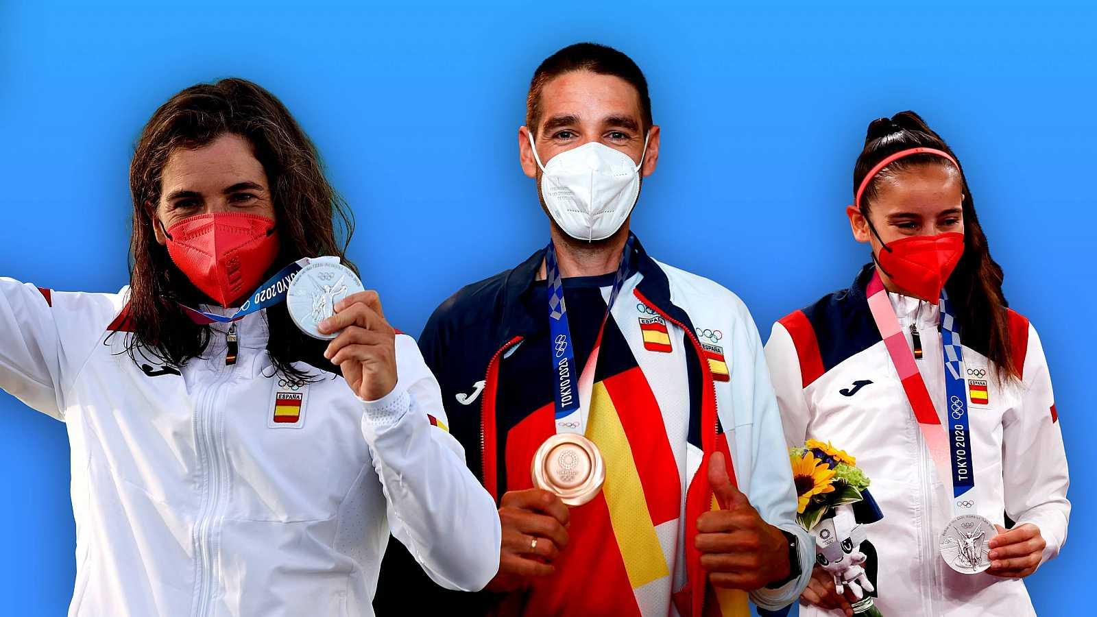 Adriana Cerezo, David Valero y Maialen Chourraut, primeros medallistas españoles en los Juegos Olímpicos de Tokyo 2020