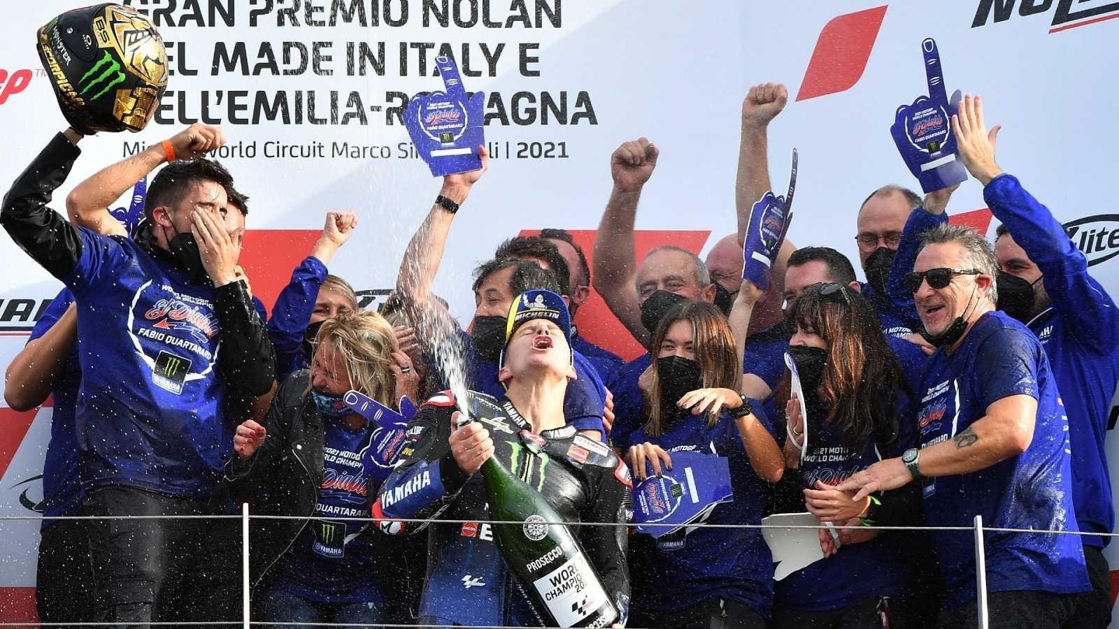 Fabio Quartararo conquista MotoGP en el circuito de Emilia-Romaña