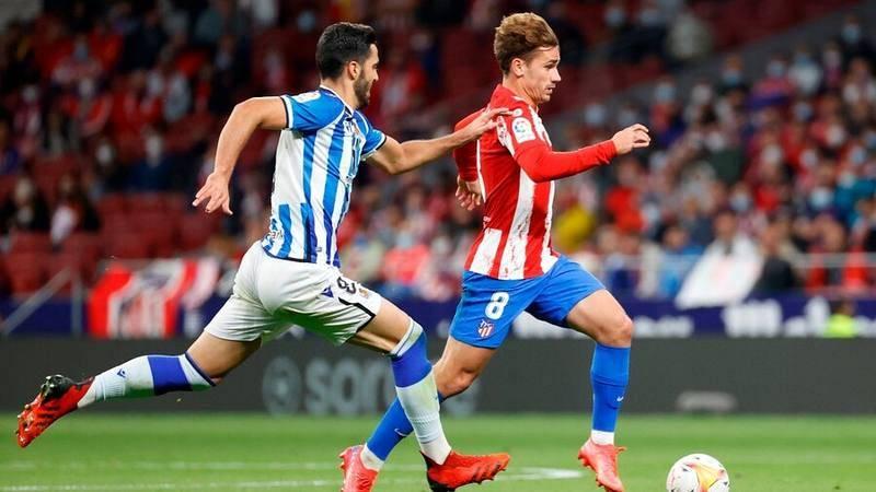 Imagen del encuentro de Liga entre el Atlético y la Real Sociedad.