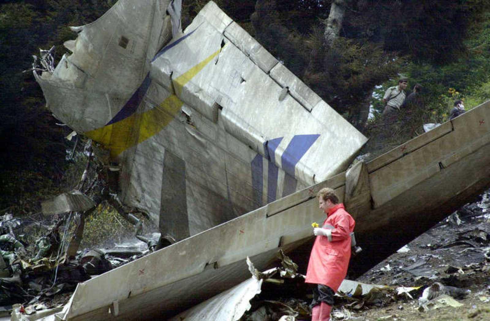 Restos del accidente del Yak-42 en Turquía.