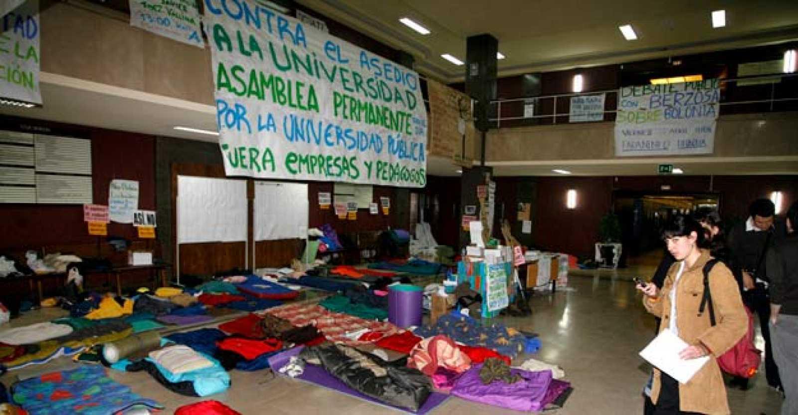 Los estudiantes contra Bolonia