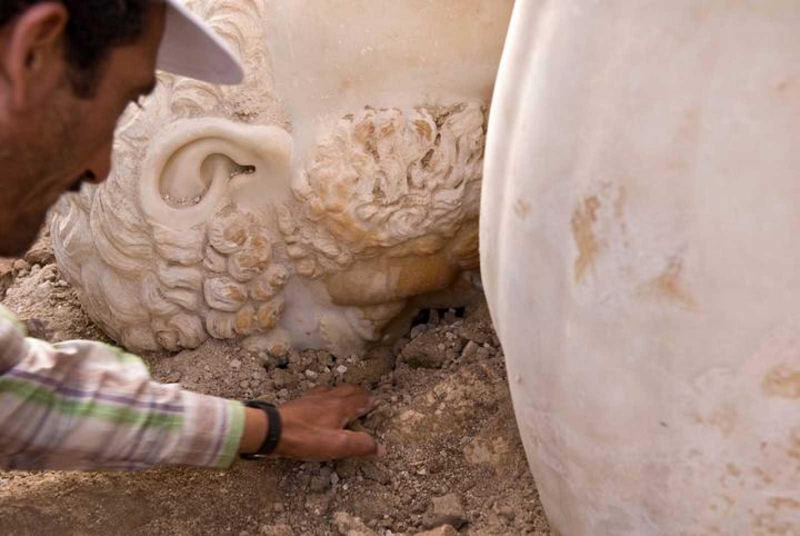 La colosal estatua de Marco Aurelio.