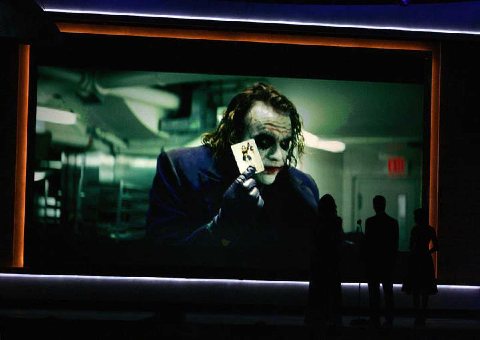 Heath Ledger en una pantalla durante los Critics' Choice awards el pasado 8 de enero.