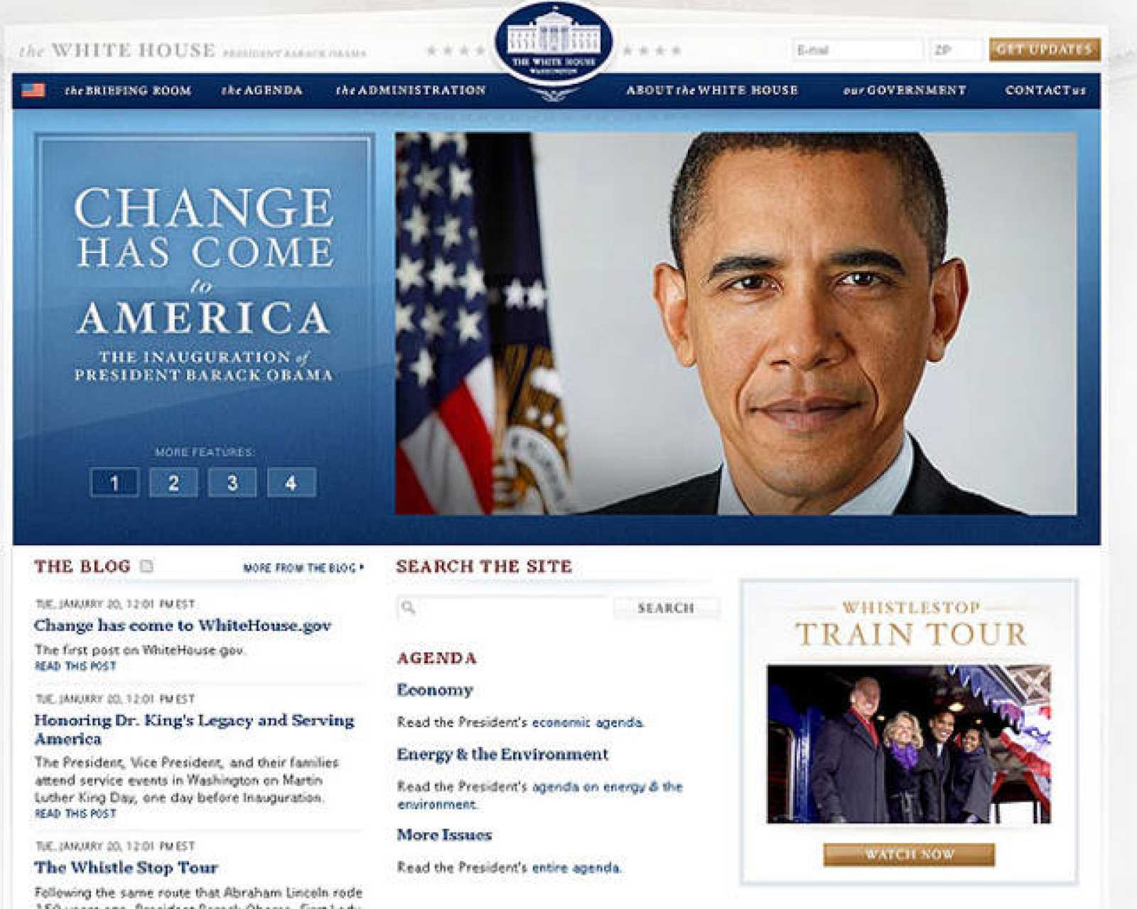 El cambio también ha llegado a la web de la Casa Blanca.