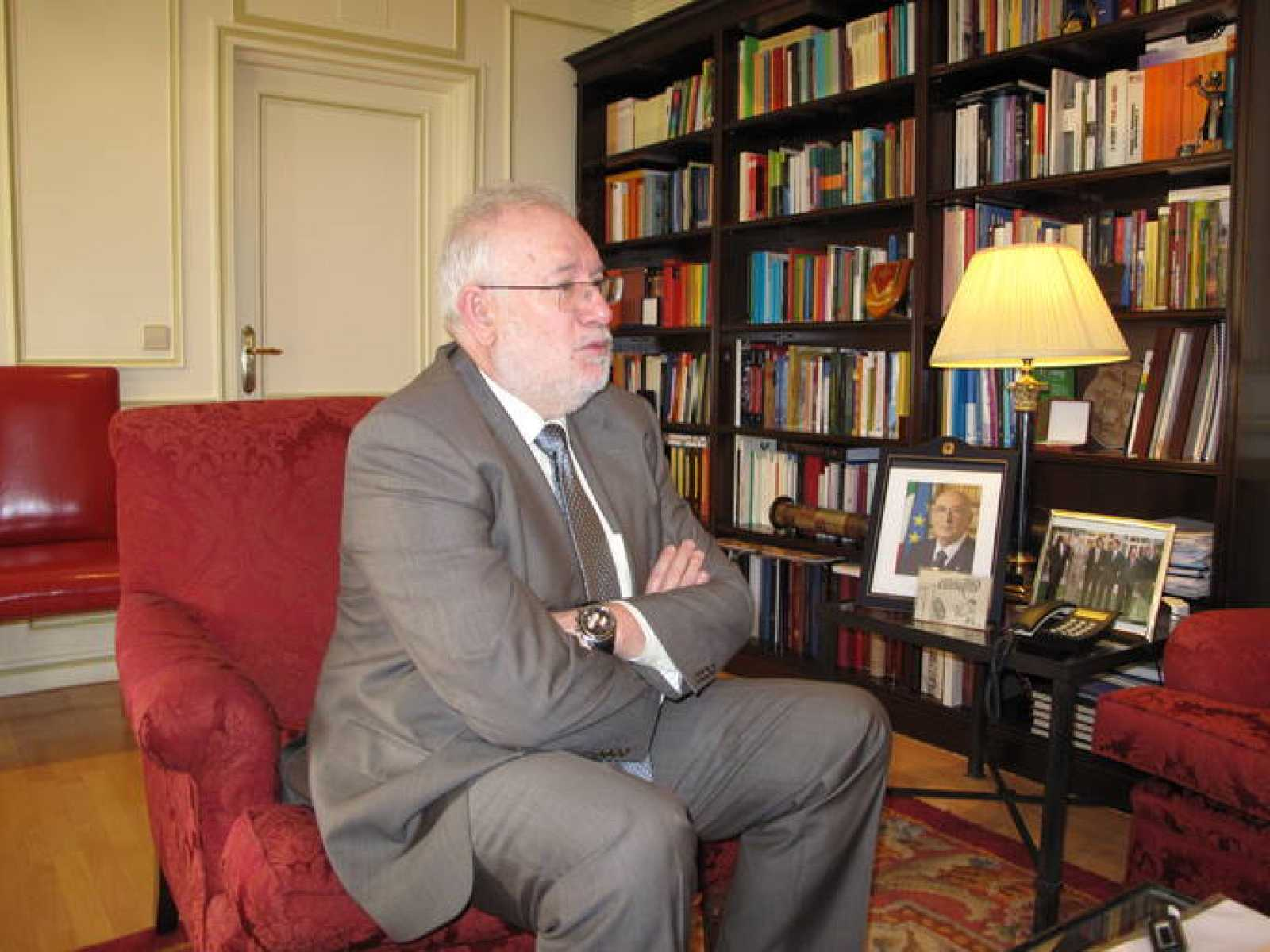 Carlos Berzosa, rector de la Universidad Complutense
