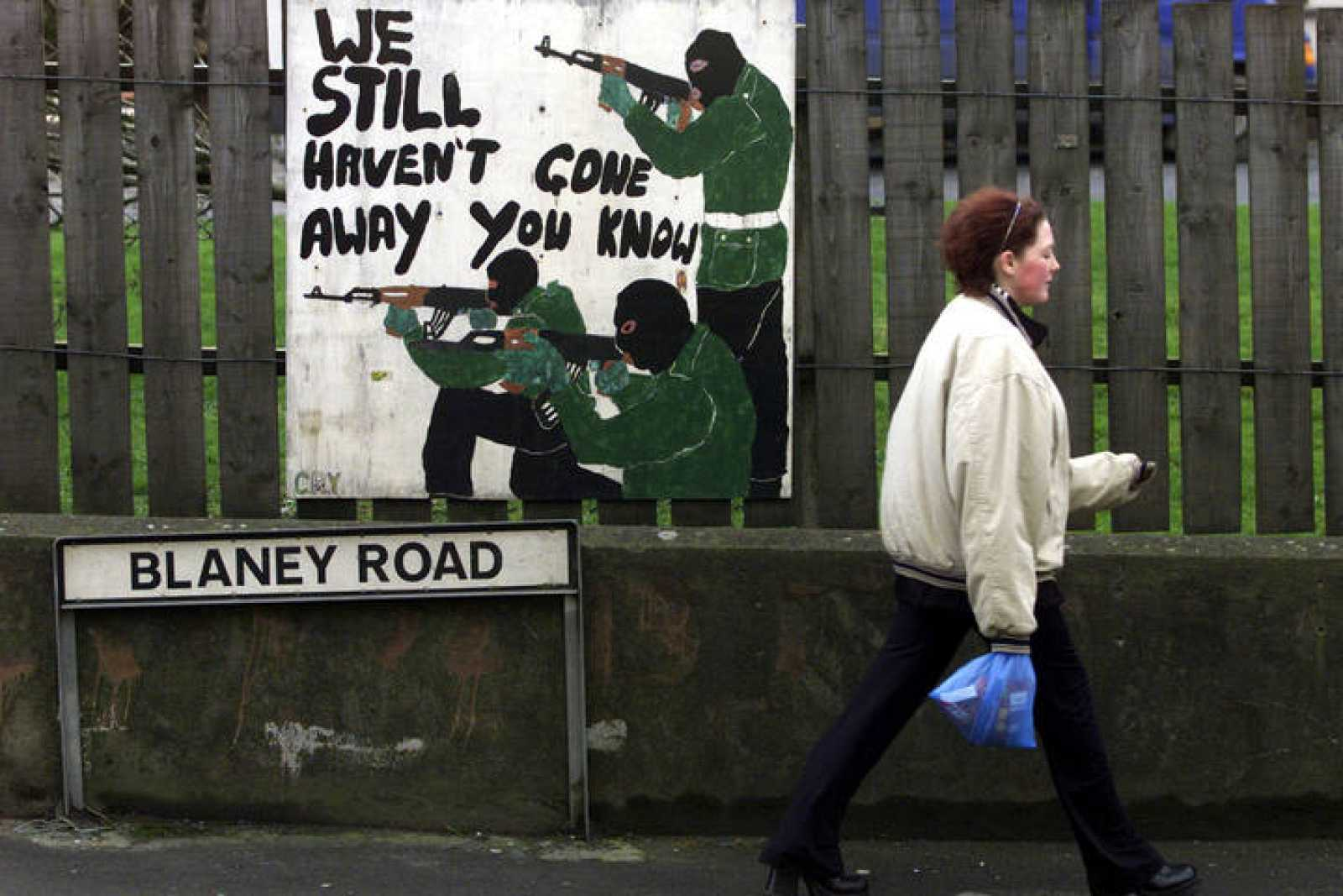 GRAFFITI SUPPORTING THE IRA APPEARS IN CROSSMAGLEN.