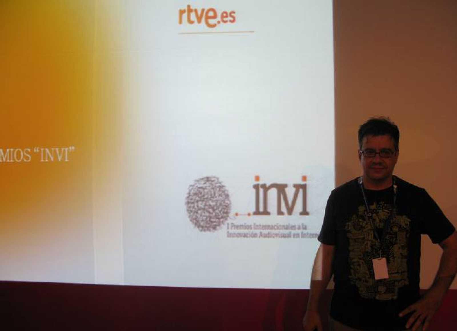 Francisco Asensi, director de desarrollo de negocio de RTVE.es, ha presentado los premios a los campuseros.