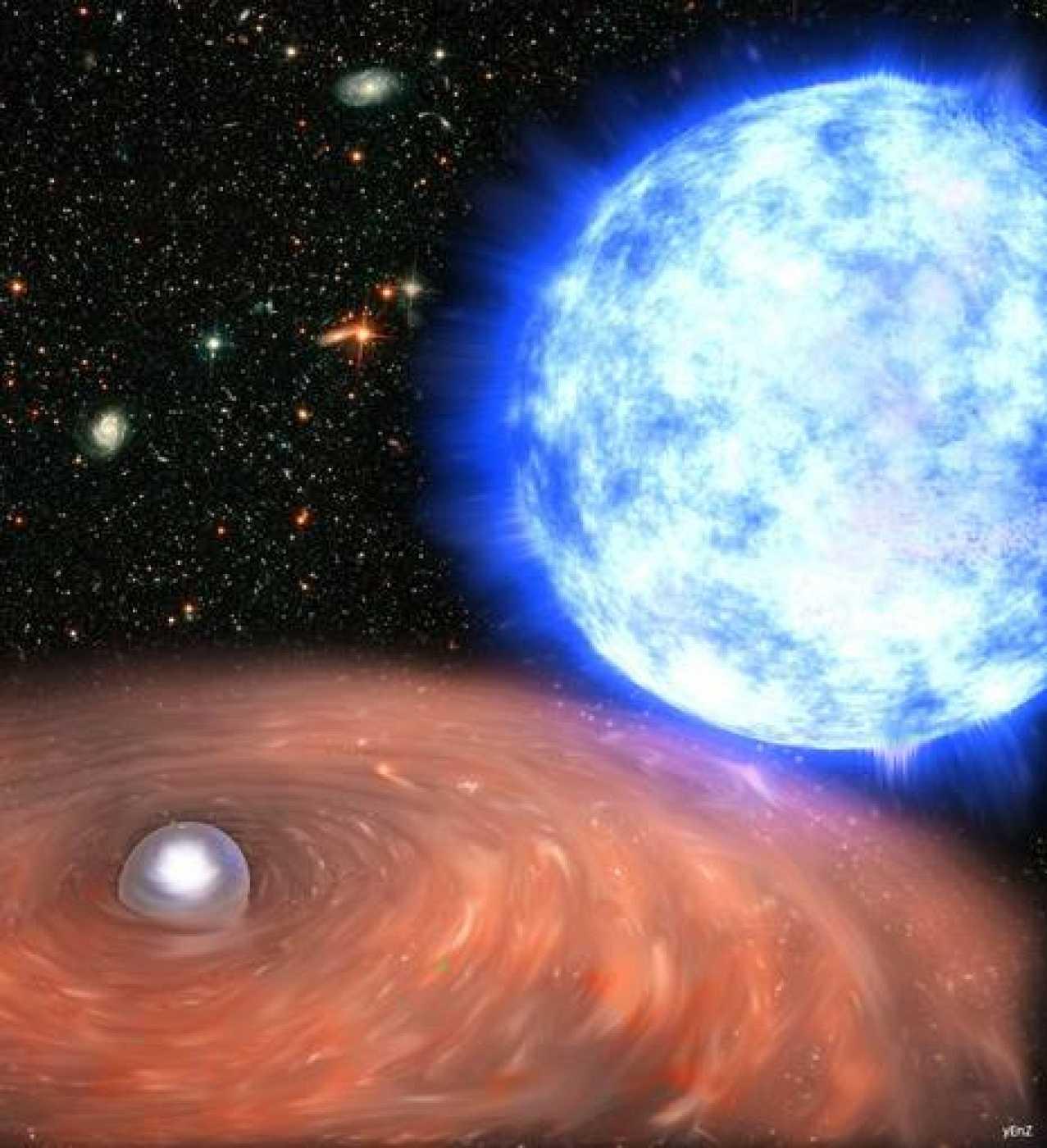 La explosión de esta estrella erá tan luminosa que se podrá ver a simple vista y a la luz del día.