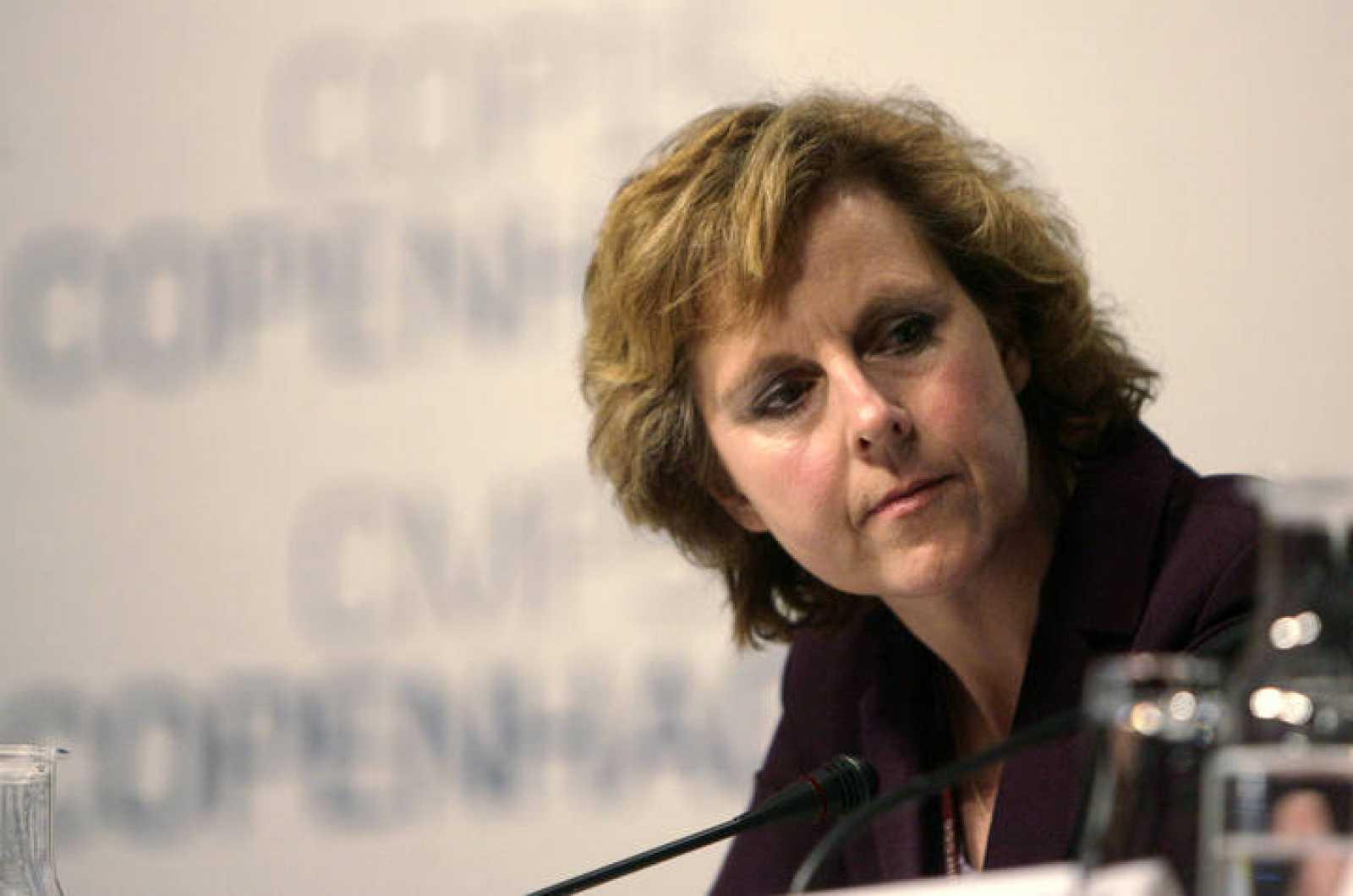 Hedegaard, durante una rueda de prensa en Copenhague.